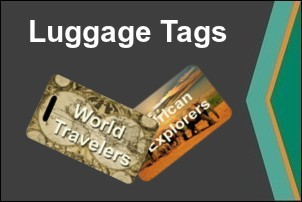 Full Color Dye Sublimation Printed Luggage Tags