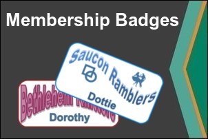 Dye Sublimation Printed Full Color Membership Badges