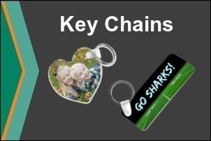 Full Color Dye Sublimation Printed Key Chains